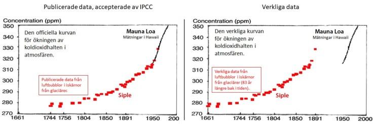 Koldioxidhalten i modern tid
