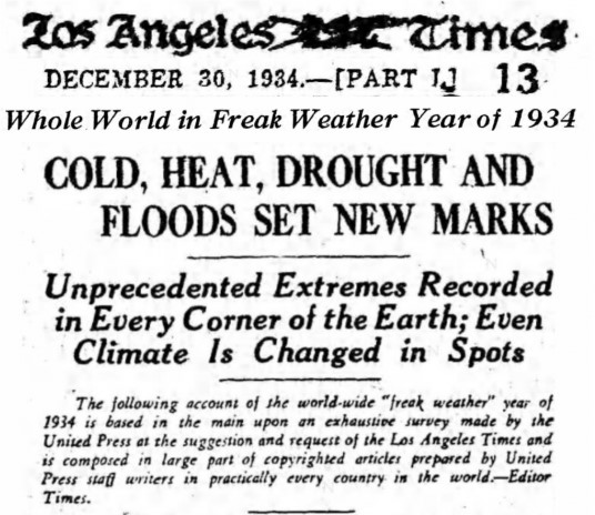 Freak weather 1934