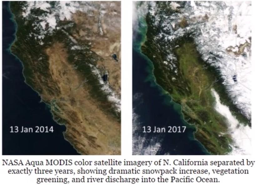 Kalifornien 2014 och 2017