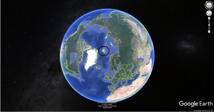 Svalbard, Google Earth
